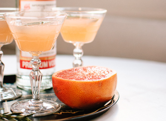 Grapefruit Vodka Drinks  Ruby Red and Rosemary Honey Cocktail Cookie and Kate