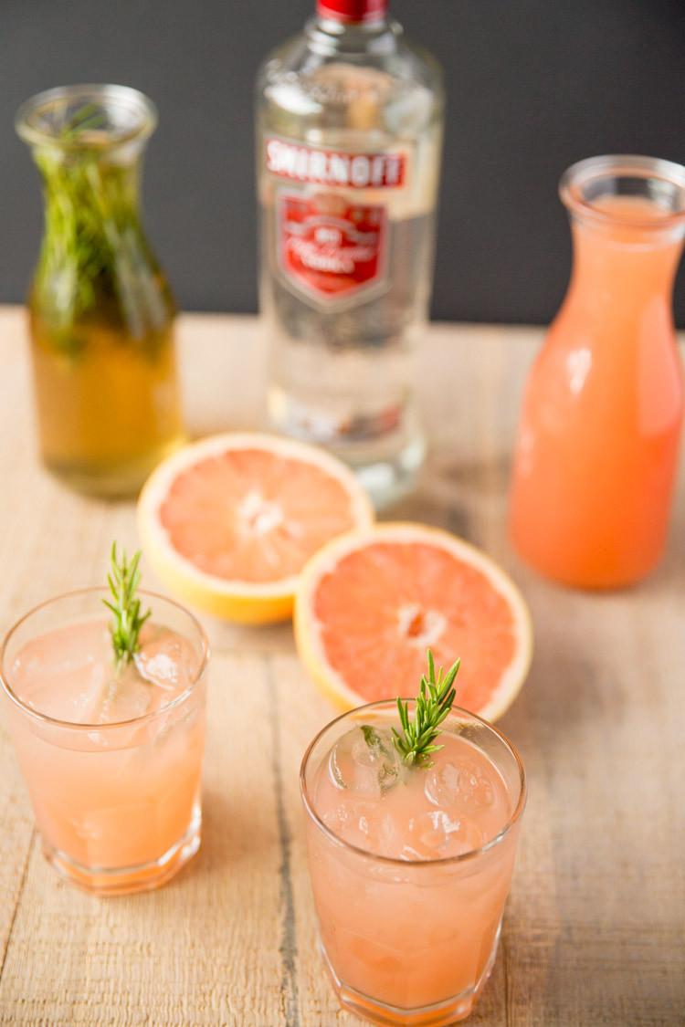 Grapefruit Vodka Drinks  Rosemary Greyhound Cocktail — Tastes Lovely