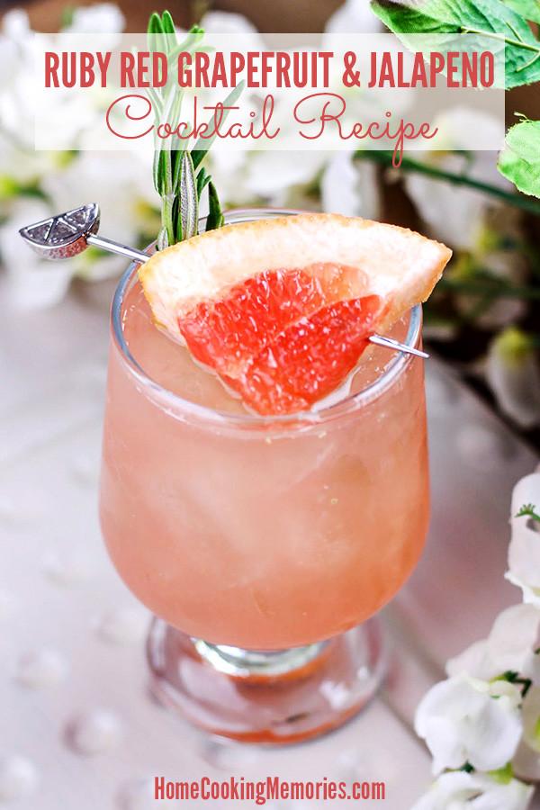 Grapefruit Vodka Drinks  Spicy Ruby Red Grapefruit & Jalapeno Cocktail Recipe