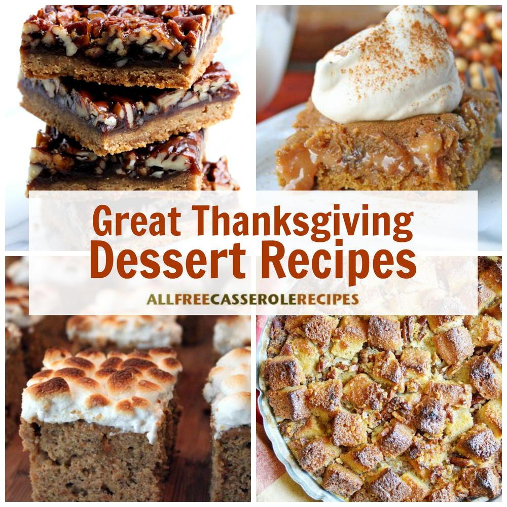 Great Dessert Recipes  18 Great Thanksgiving Dessert Recipes