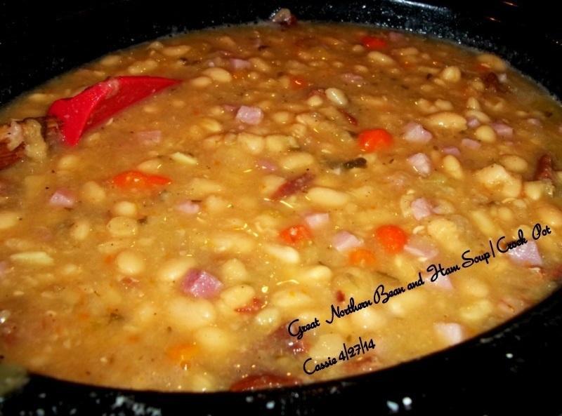 Great Northern Bean Recipes  Great Northern Bean N Ham Soup Crock Pot Recipe