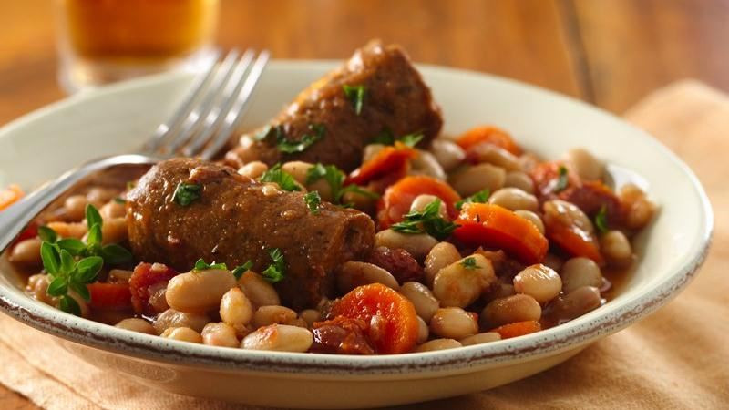 Great Northern Bean Recipes  Slow Cooker Great Northern Bean and Veggie Sausage