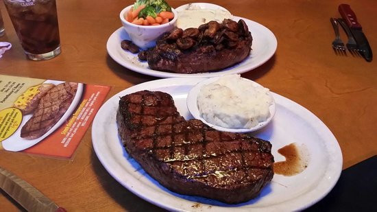 Great Steak And Potato  25oz bone in ribeye with loaded sweet potato Picture of