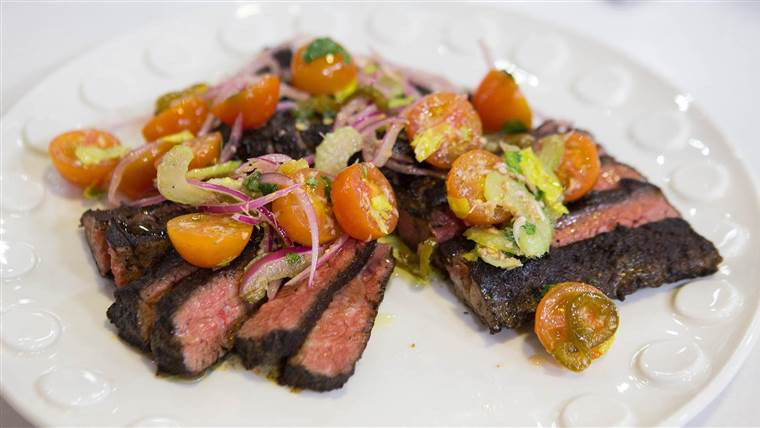 Great Steak And Potato  Make Bobby Flay's delicious but healthy skirt steak and