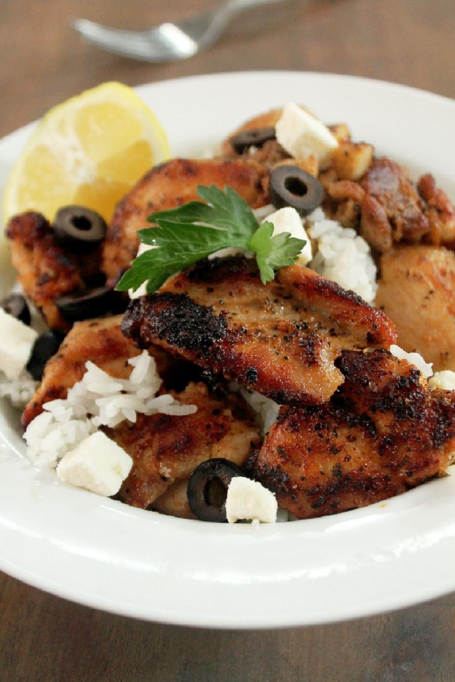 Greek Chicken Thighs  Greek Chicken Bowl Creole Contessa