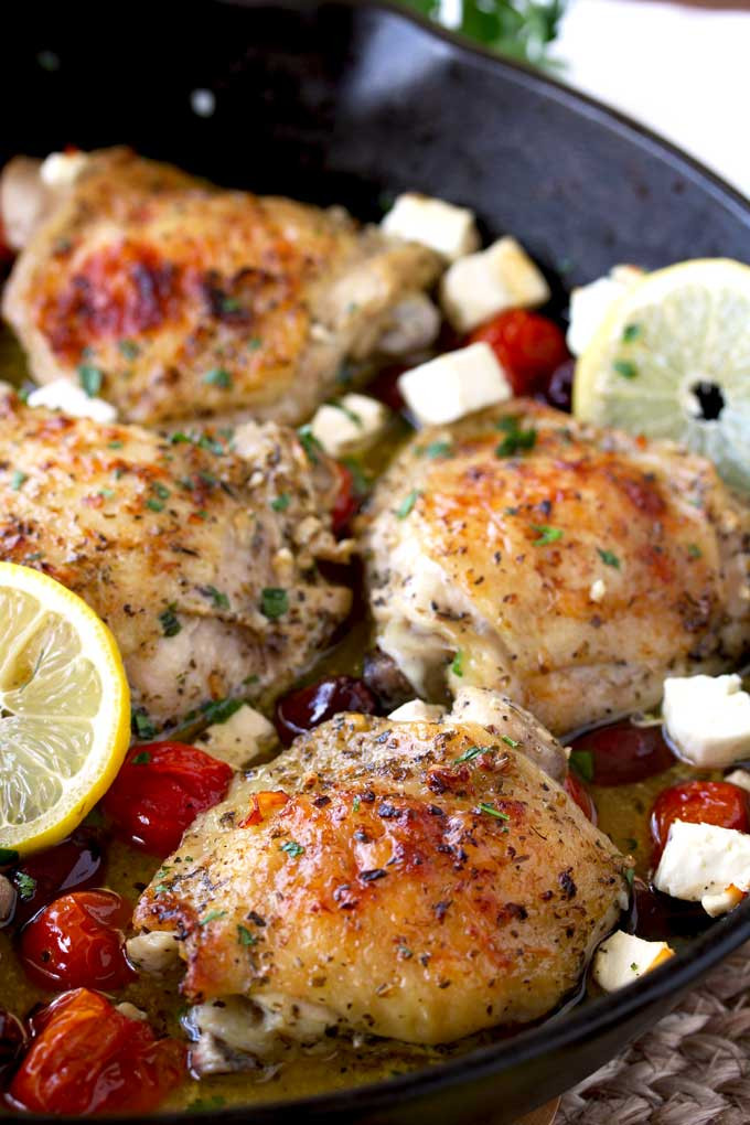 Greek Chicken Thighs  Greek Lemon Oven Roasted Chicken Thighs The Salty