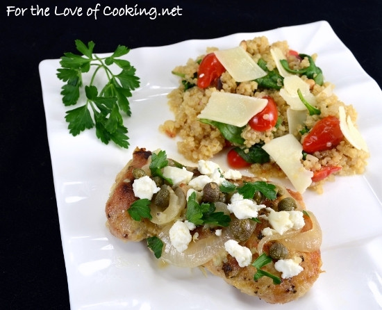 Greek Chicken Thighs  Greek Chicken Thighs with Lemon Capers and Feta
