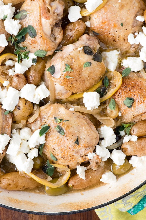 Greek Chicken Thighs  Greek Chicken Thighs Recipe — Dishmaps