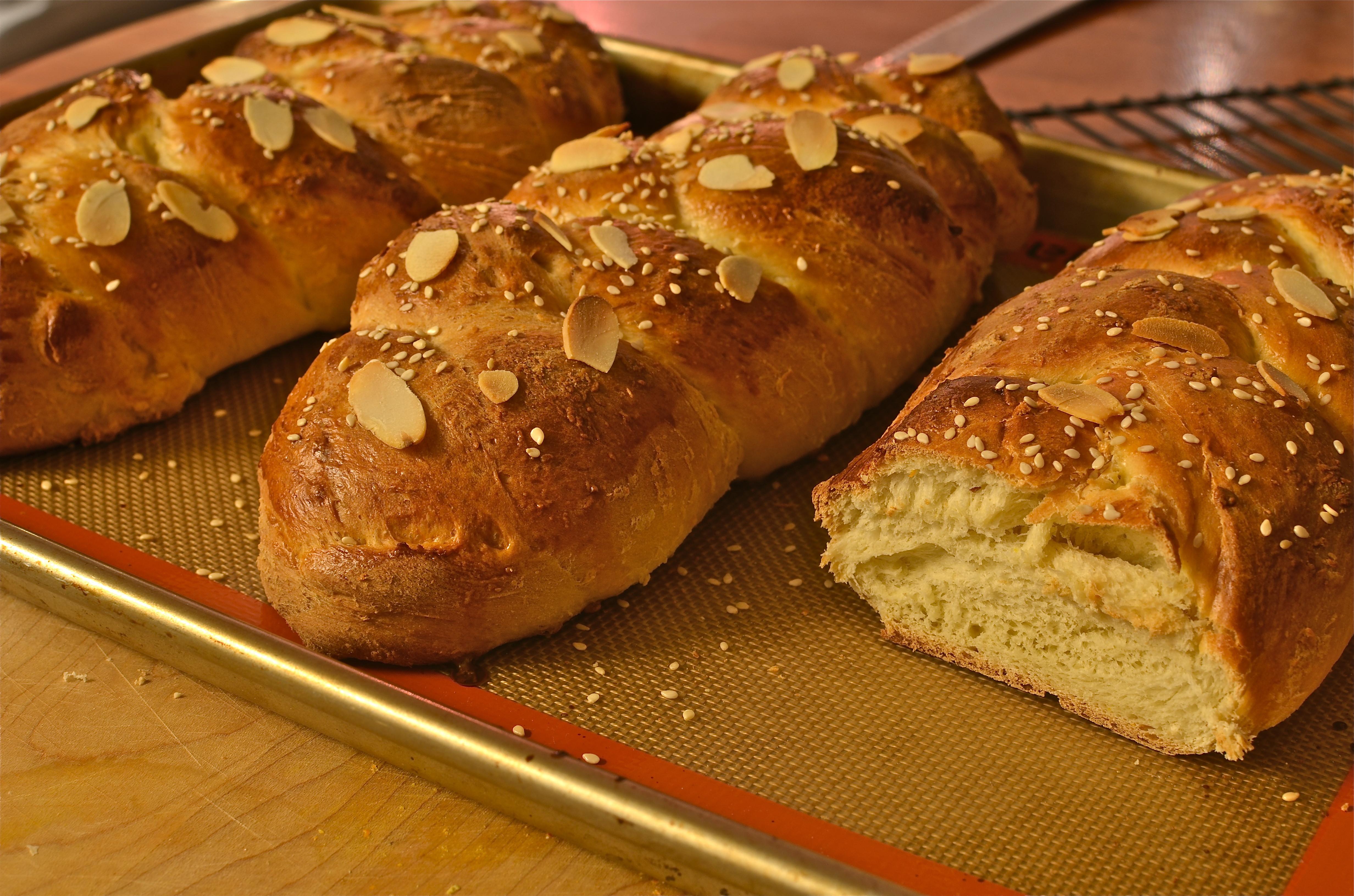 Greek Easter Bread  Tsoureki Tsourekia