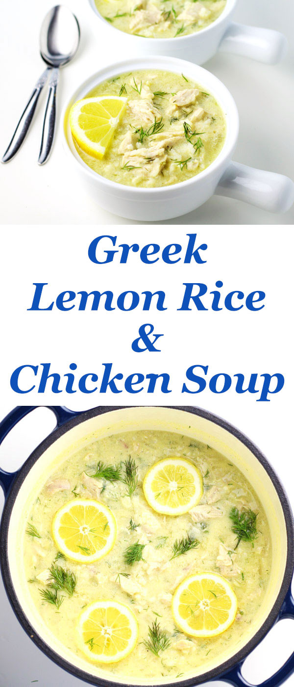 Greek Lemon Chicken Soup  Greek Lemon Rice and Chicken Soup Tastefulventure