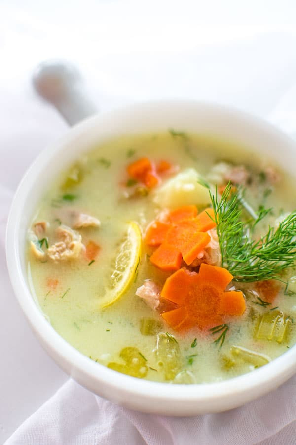 Greek Lemon Chicken Soup  EASY GREEK CHICKEN LEMON SOUP COOKTORIA