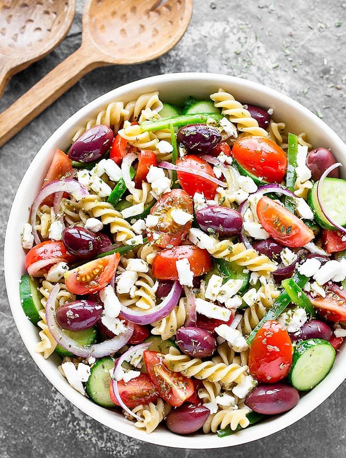 Greek Pasta Salad  Easy Greek Pasta Salad As Easy As Apple Pie