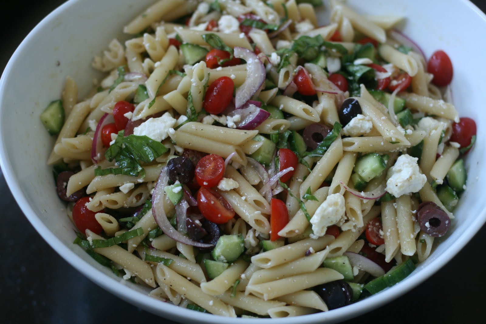 Greek Pasta Salad  Week of Menus Greek Pasta Salad Questioning choices
