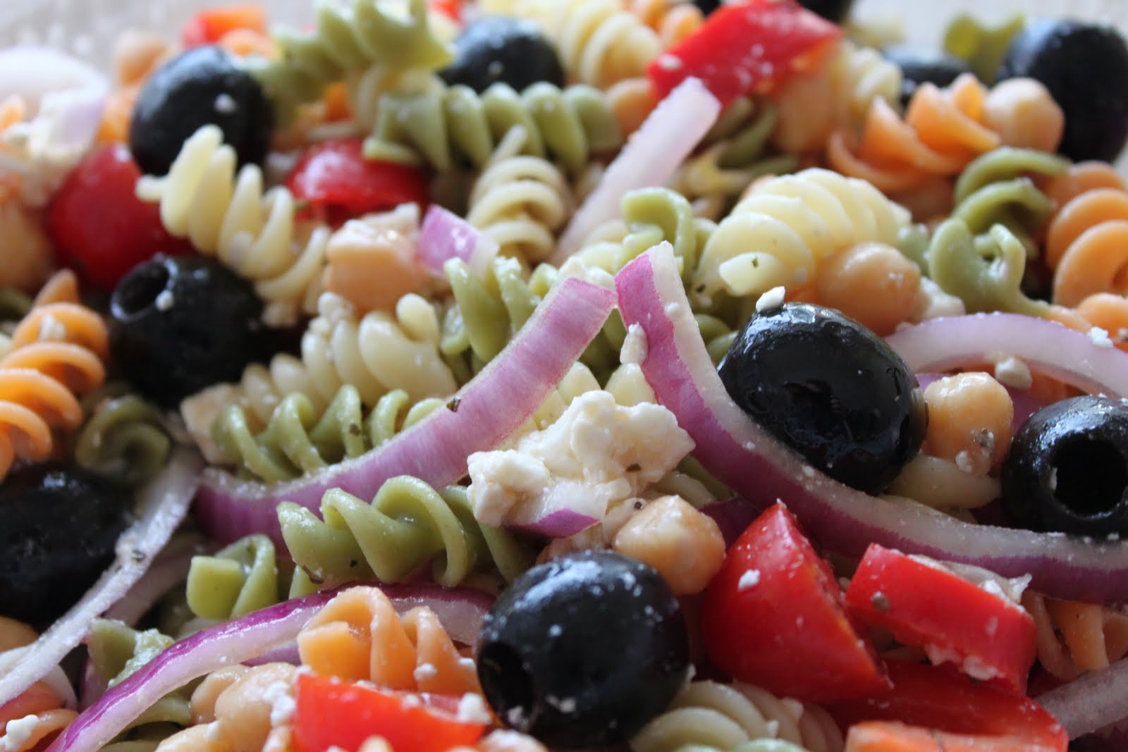 Greek Pasta Salad  Meatless Meals for Meat Eaters Greek Pasta Salad