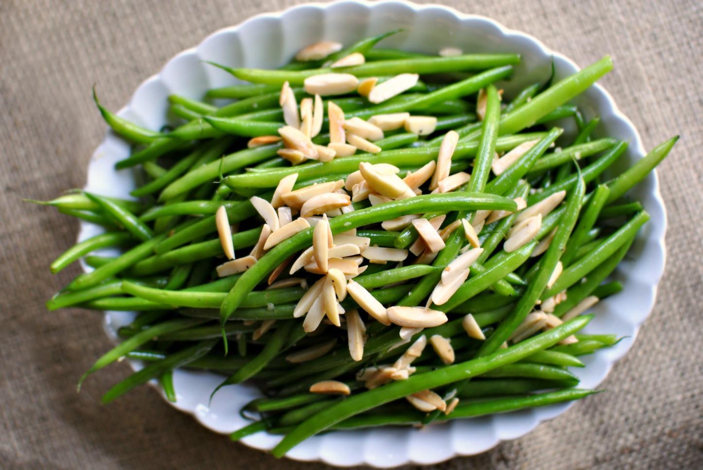 Green Bean Almonds Recipes  Simply Scratch Garlicky Green Bean Almondine Simply Scratch