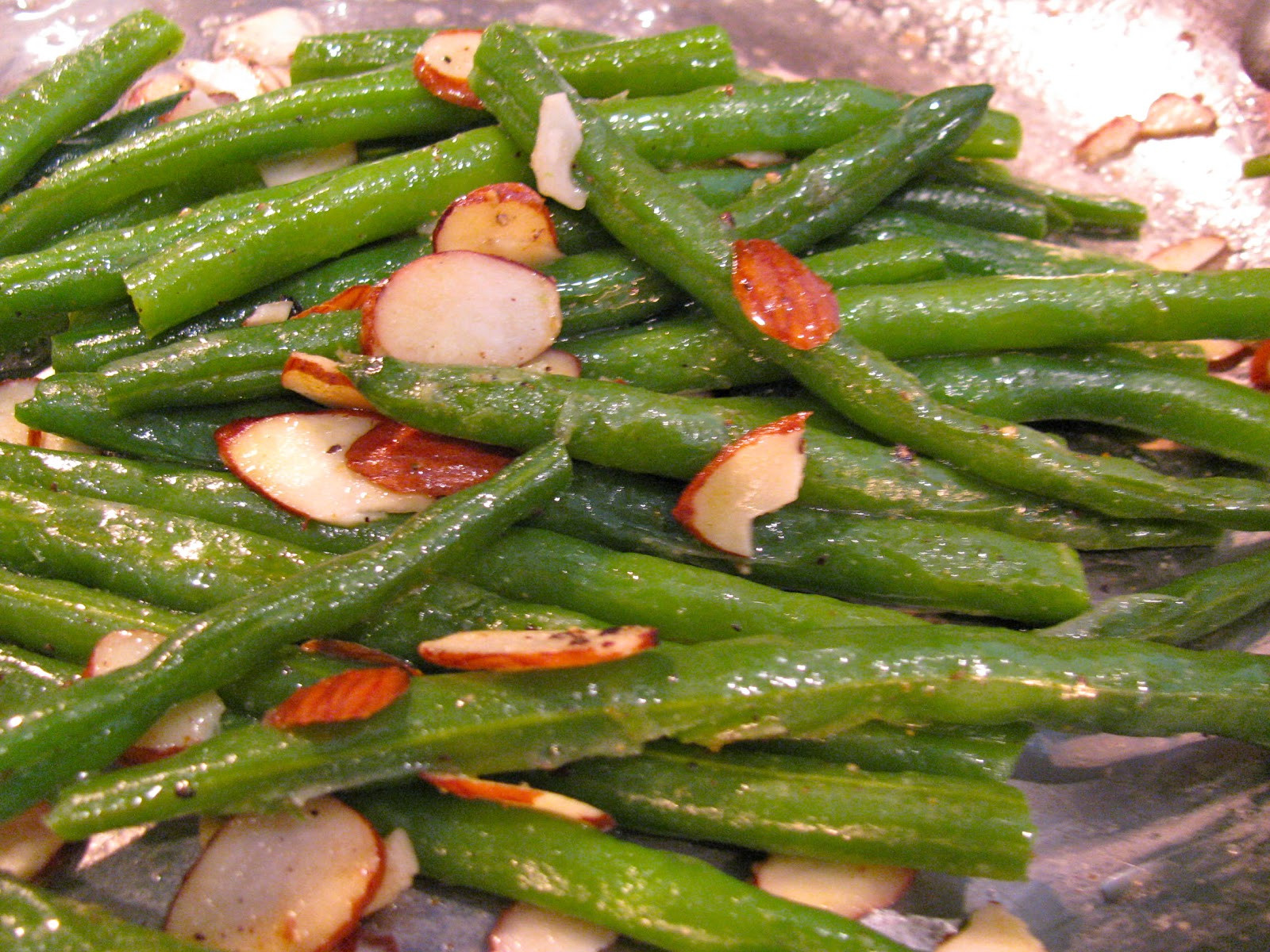 Green Bean Almonds Recipes  Rita s Recipes Green Beans Almondine