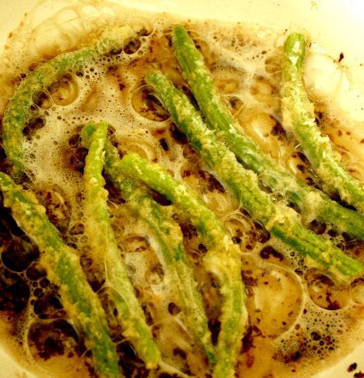 Green Bean Appetizer  Panko Fried Green Beans with Wasabi Cucumber Ranch Dip