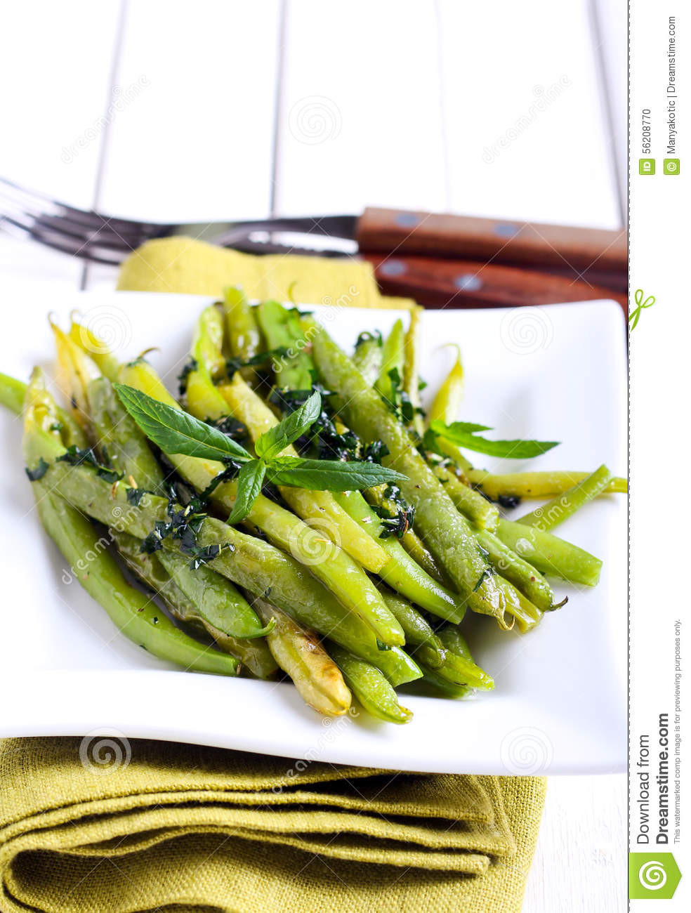 Green Bean Appetizer  Minted Green Bean Appetizer Stock Image