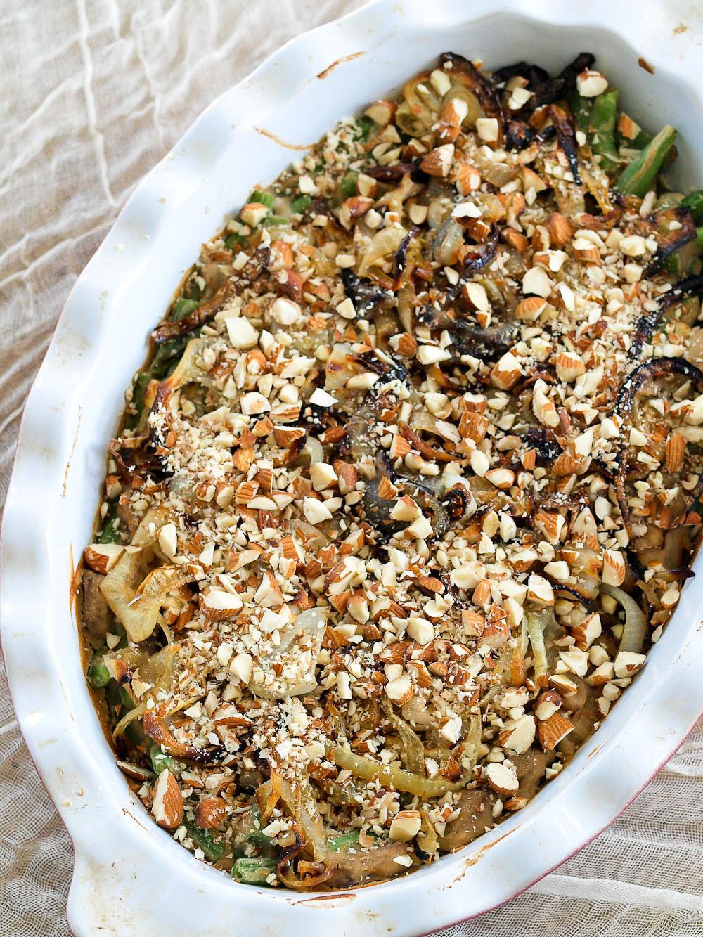 Green Bean Casserole Thanksgiving  Healthy Recipe Makeover Green Bean Casserole vegan and