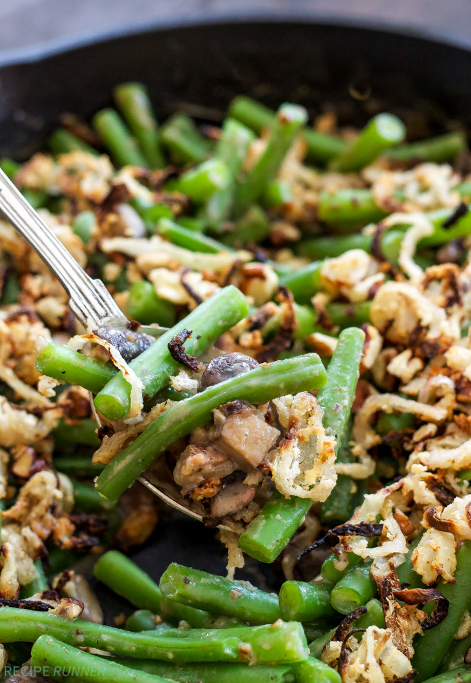 Green Bean Casserole With Canned Green Beans  Green Bean Casserole with Crispy Shallot Pecan Topping