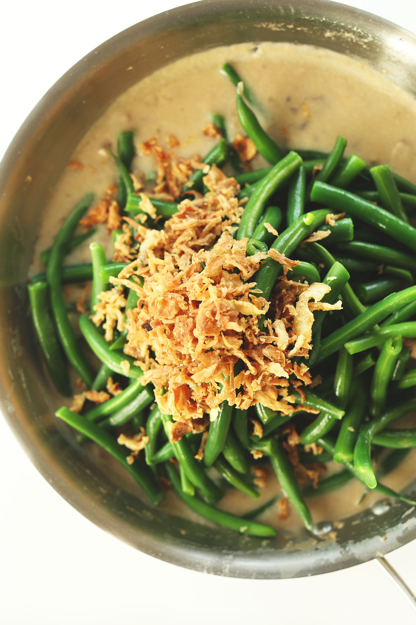 Green Bean Casserole With Canned Green Beans  Vegan Green Bean Casserole