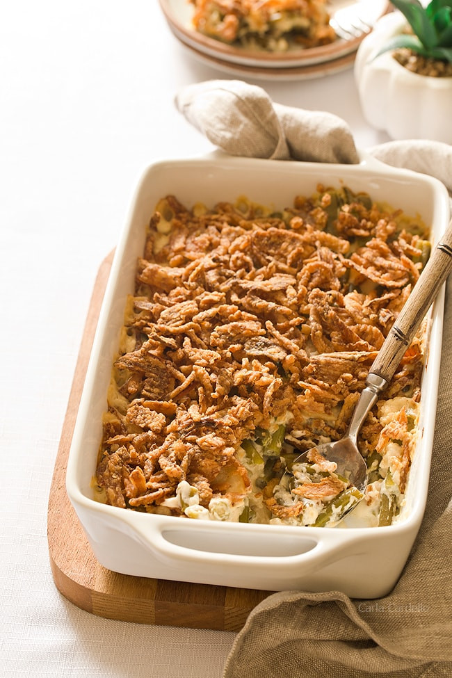 Green Bean Casserole With Canned Green Beans  Green Bean Casserole Without Mushroom Soup