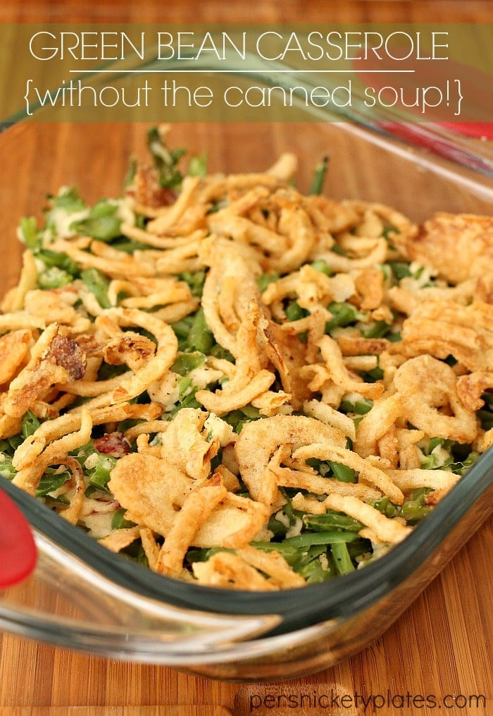 Green Bean Casserole With Canned Green Beans  Green Bean Casserole without the canned soup