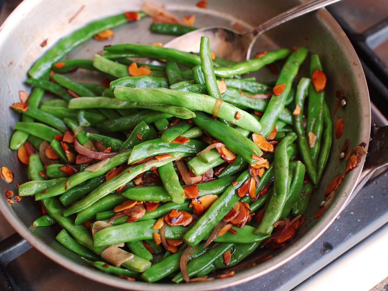 Green Bean Recipes  Haricots Verts Amandine French Style Green Beans With