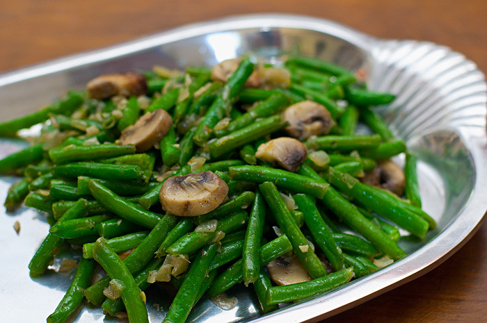 Green Bean Recipes  Savory Green Beans and Mushrooms