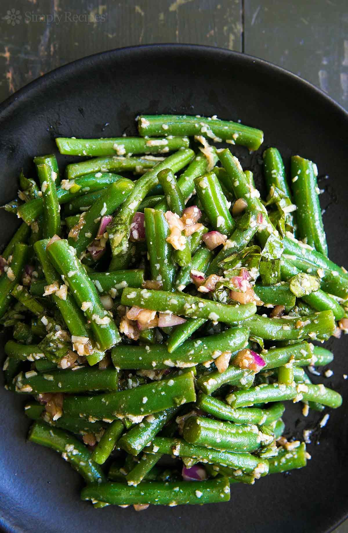 Green Bean Recipes  Green Bean Salad with Basil Balsamic and Parmesan Recipe