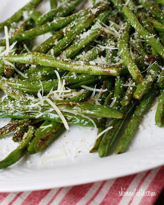 Green Bean Recipes  Roasted Parmesan Green Beans