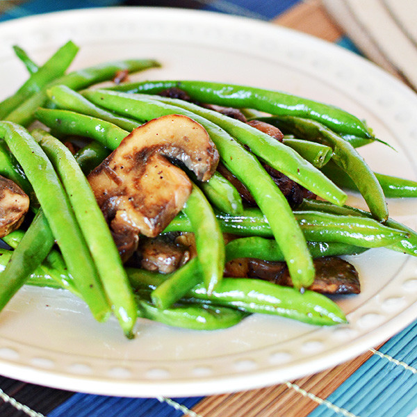 Green Bean Recipes  Easy Green Beans with Mushrooms Recipe Home Cooking Memories