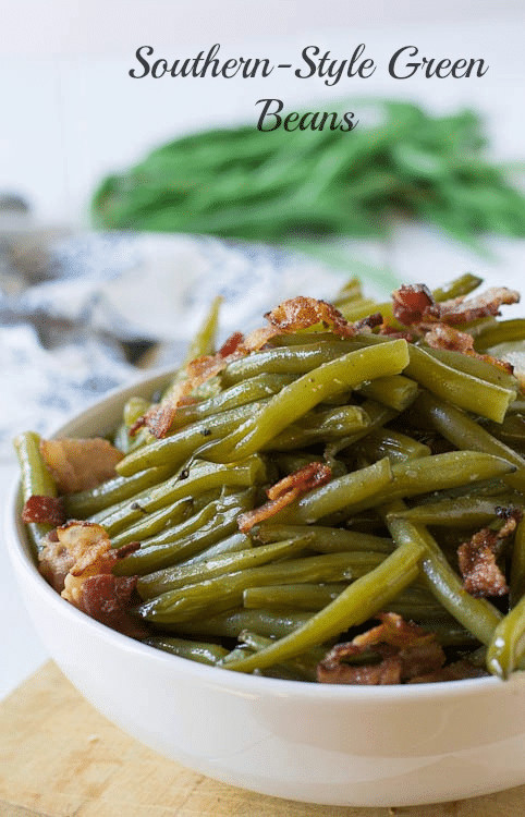 Green Bean Recipes  Southern Style Green Beans Spicy Southern Kitchen