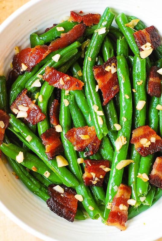 Green Bean Recipes  Garlic and Bacon Green Beans Julia s Album