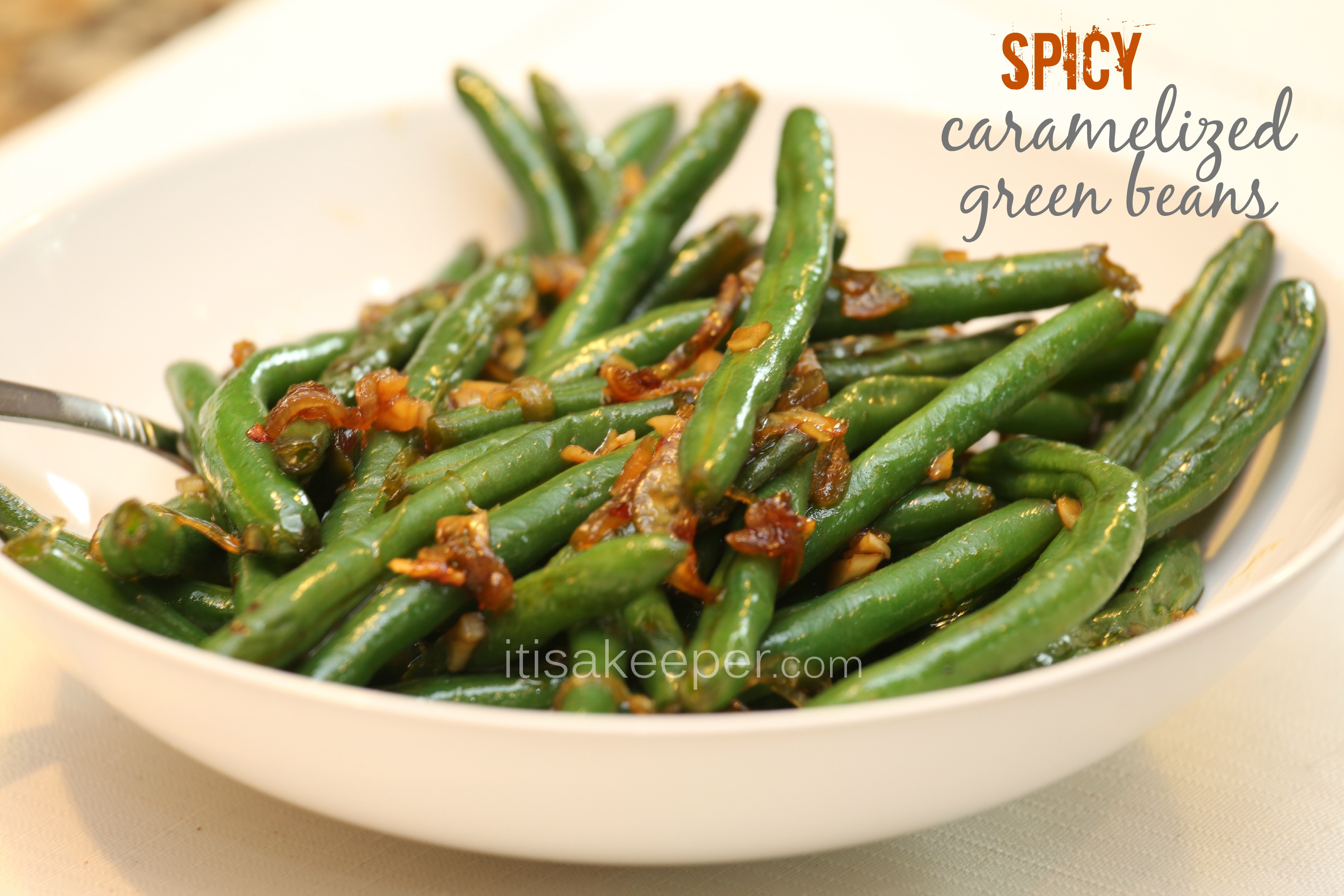 Green Bean Side Dish  Easy Side Dishes Spicy Caramelized Green Beans