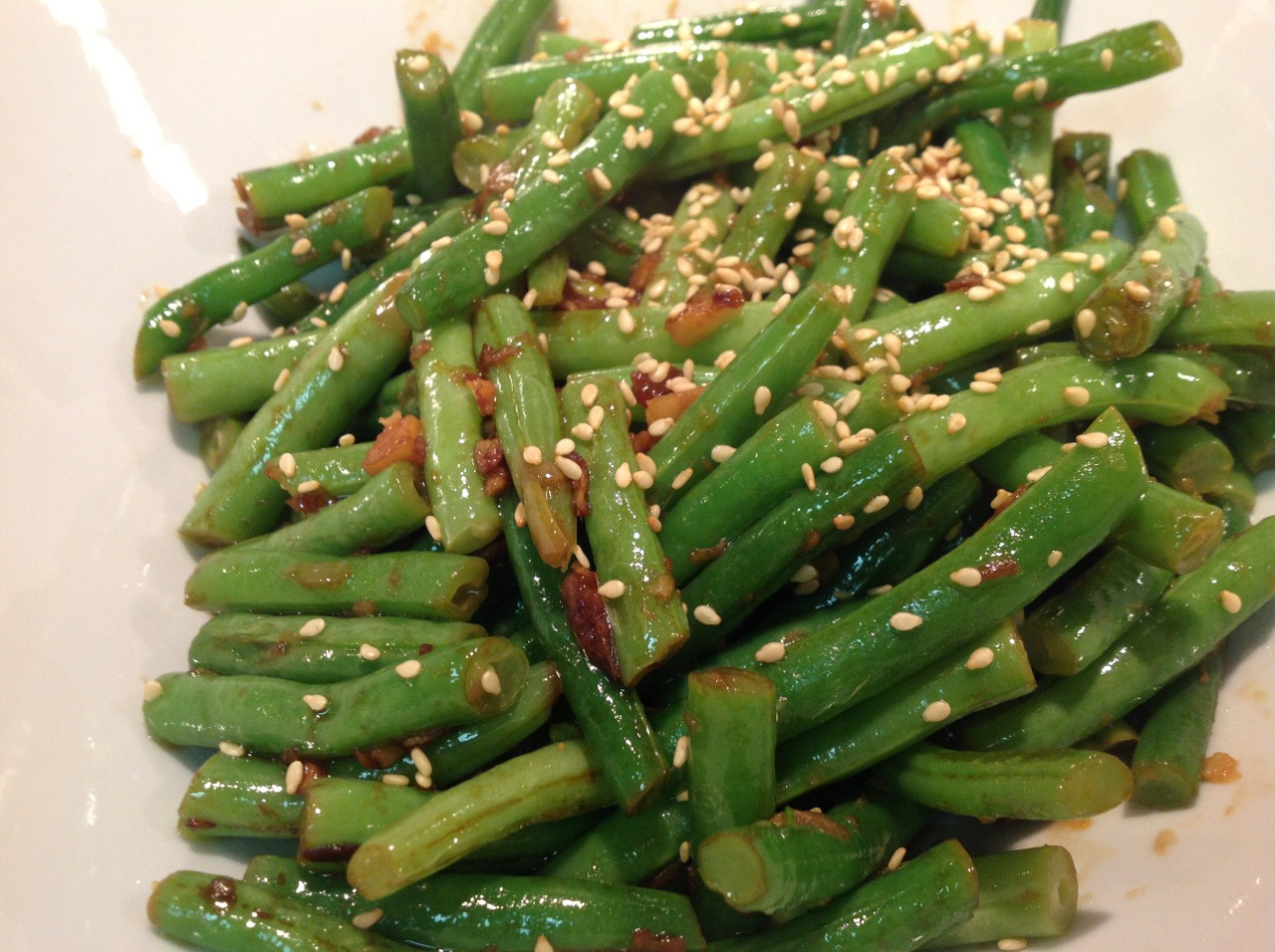Green Bean Side Dish  Cook In Dine Out Sautéed Garlic Ginger Green Beans
