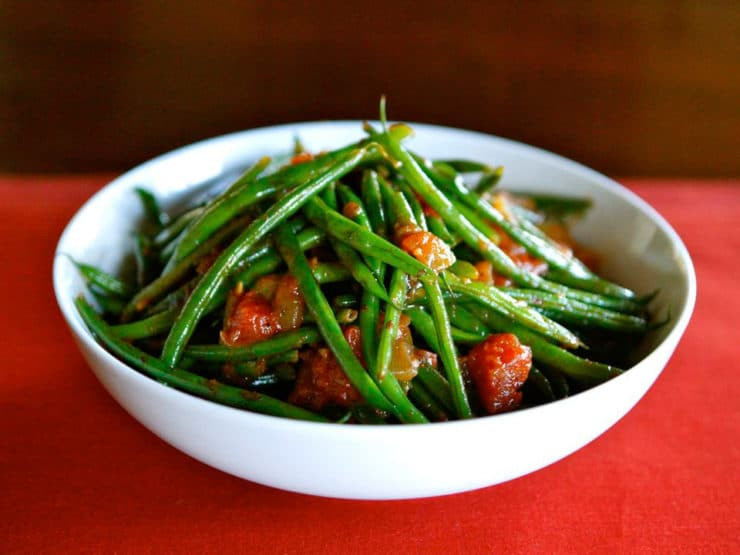 Green Bean Side Dish  Green Bean Tomato Sauté healthy vegan side dish recipe