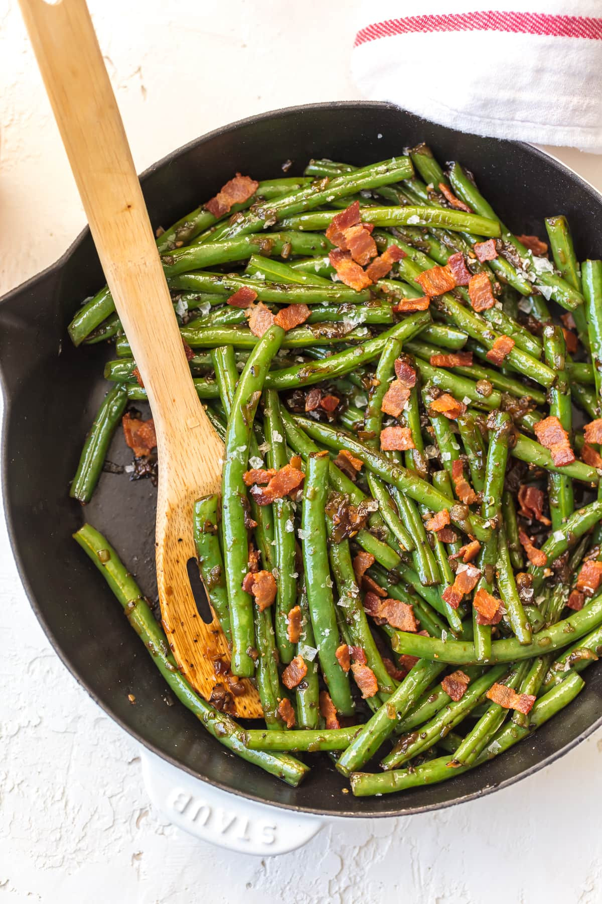 Green Bean Side Dish  Skillet Green Beans with Bacon Bourbon Green Beans Recipe