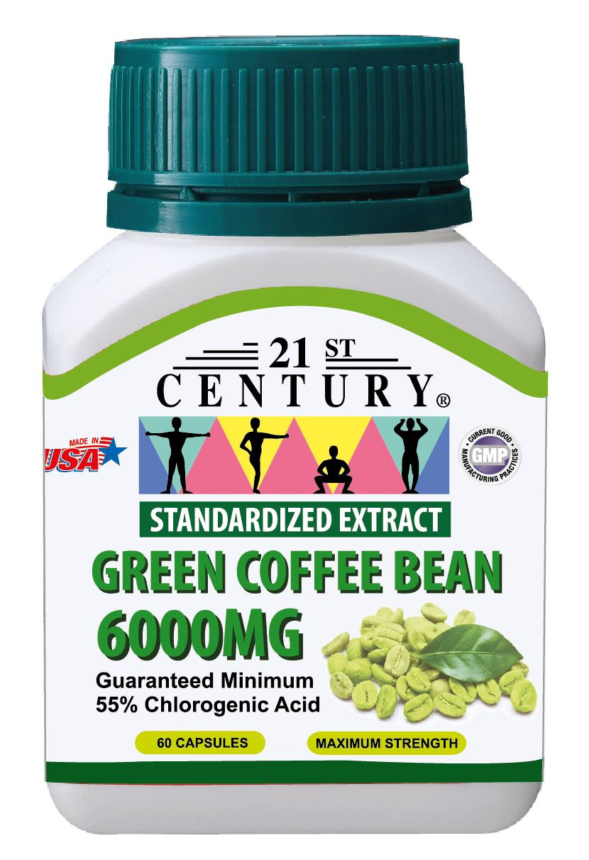 Green Coffee Bean Extract  GREEN COFFEE BEAN EXTRACT 6 000mg 60 capsules FREEZE