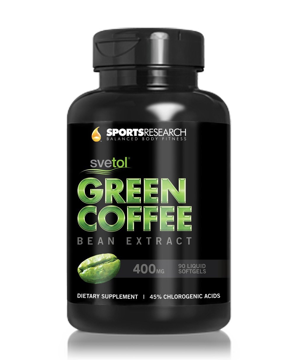 Green Coffee Bean Extract  SVETOL Green Coffee Bean Extract 90 Liquid Softgels with