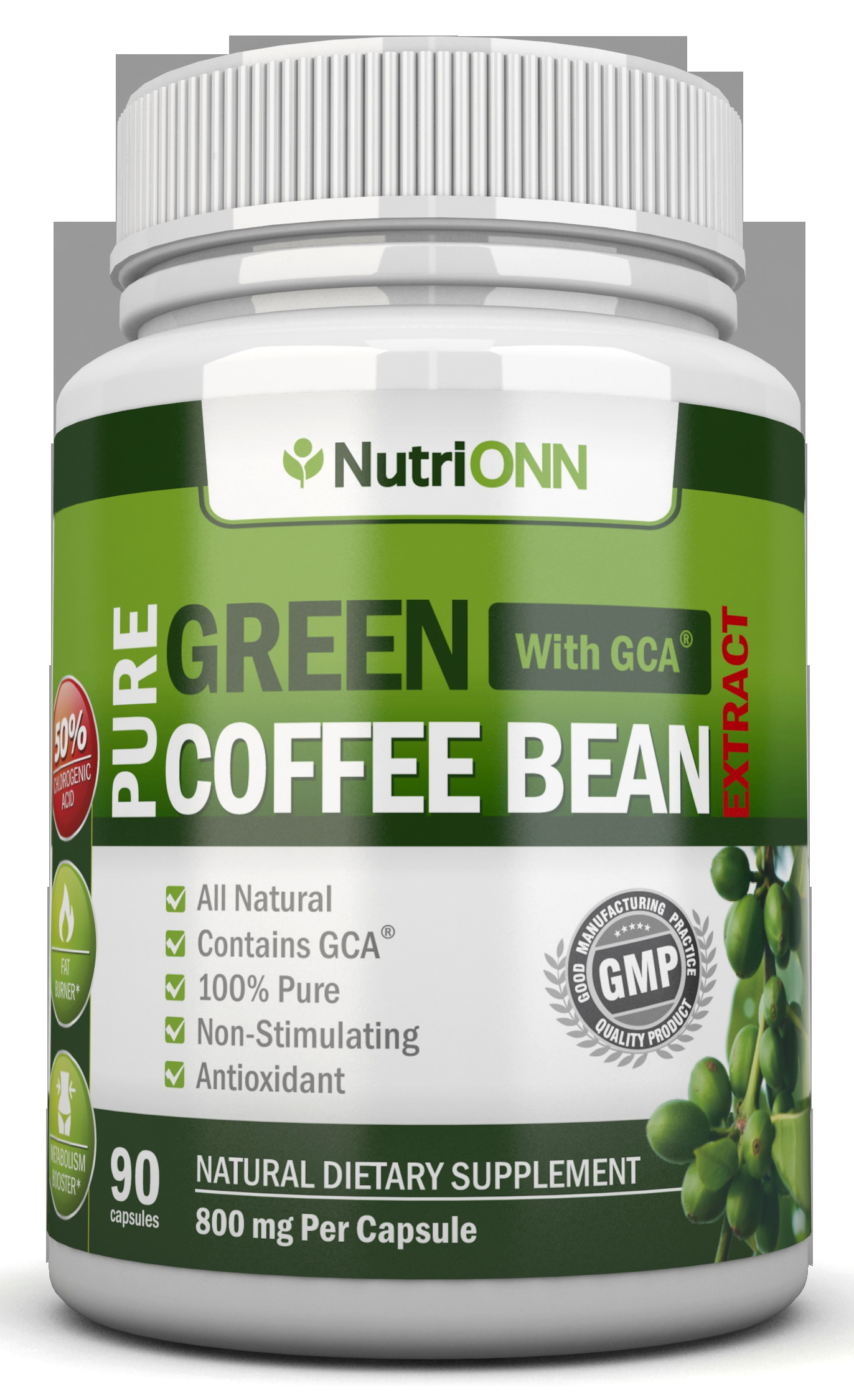 Green Coffee Bean Extract  Green Coffee Bean Extract NutriONN Supplements
