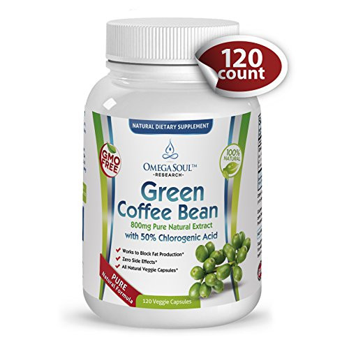 Green Coffee Bean Extract  Pure Green Coffee Bean Extract with CGA 800 mg
