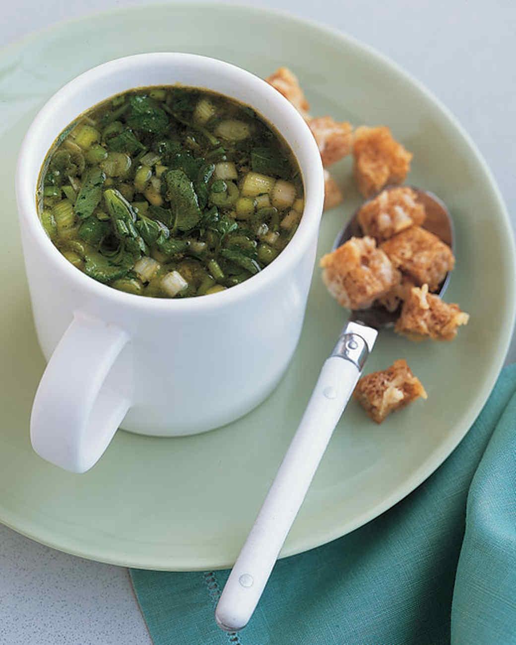 Green Onion Soup  green onion soup