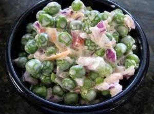 Green Pea Salad  Green Pea Salad Ve arian Recipe