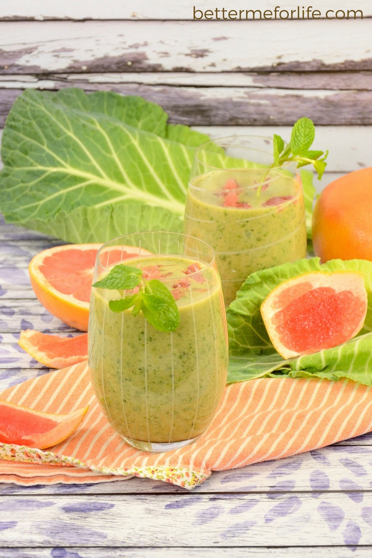 Green Smoothies For Life  Mint Grapefruit Green Smoothie Better Me for Life