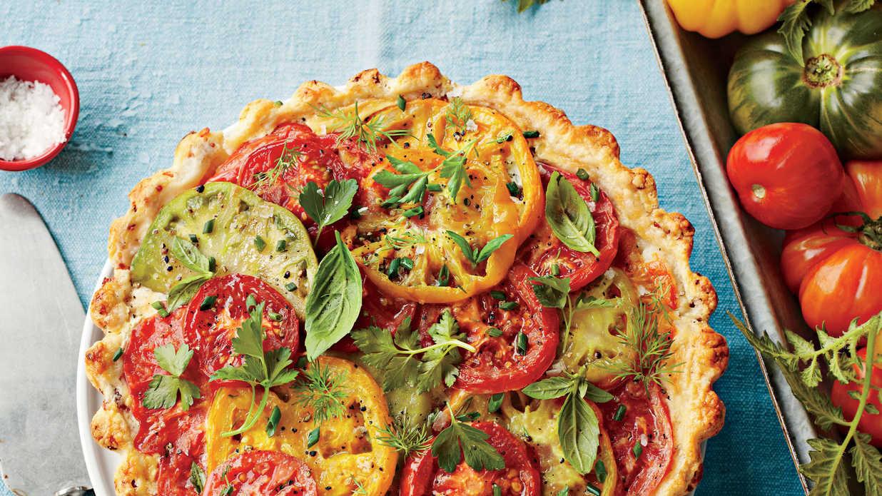 Green Tomato Pie  savory green tomato pie