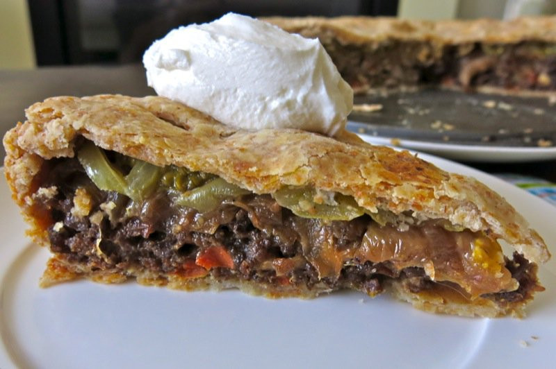 Green Tomato Pie  Savory Green Tomato Pie with Beef and ions in Whole