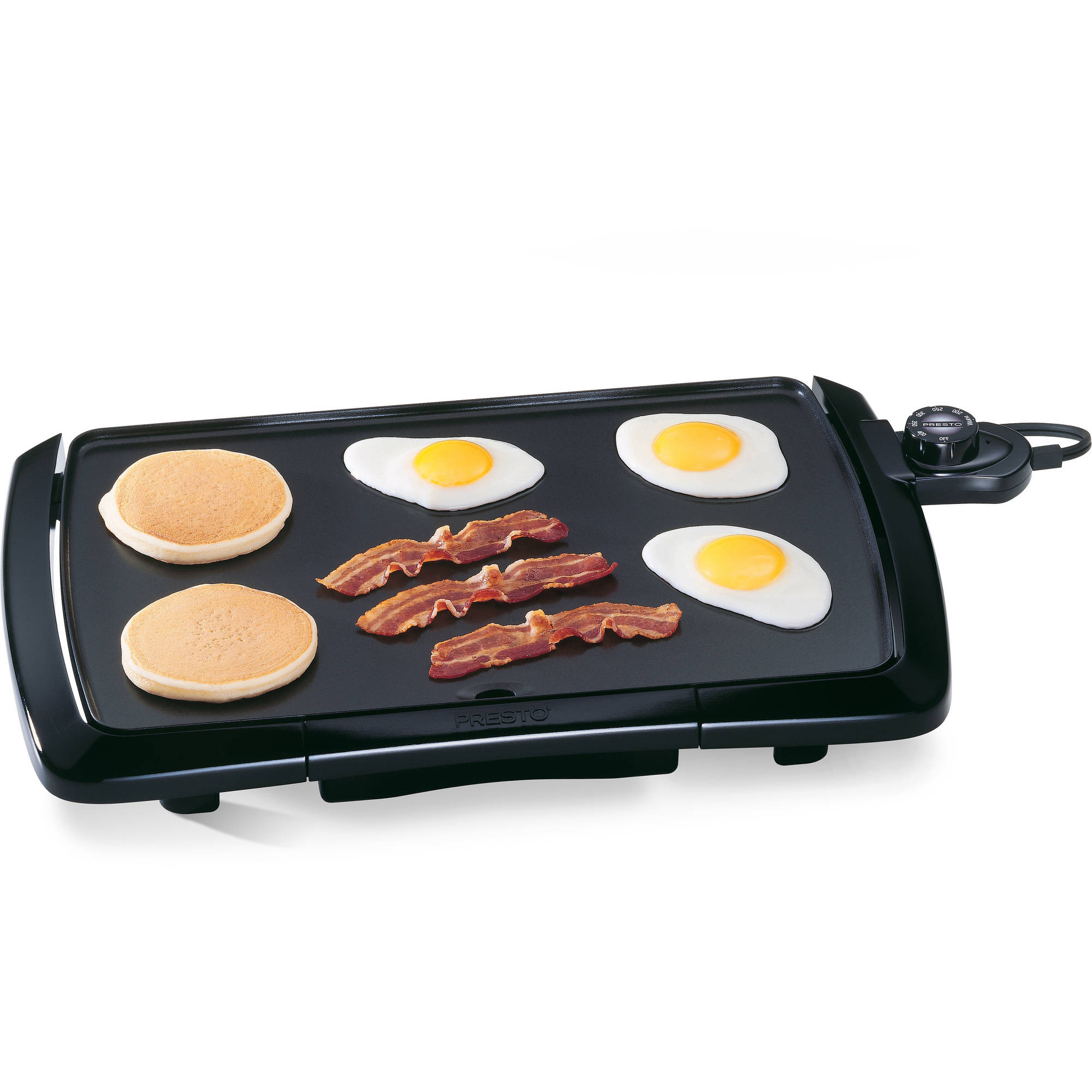 Griddle Temp For Pancakes  Presto Cool Touch Electric Griddle
