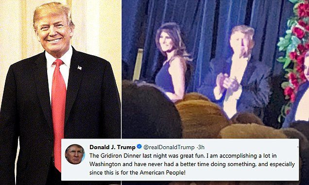 Gridiron Dinner 2018 On Tv  Trump calls media dinner he attended great fun