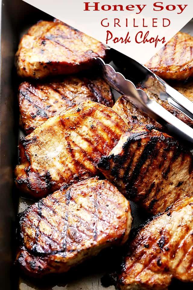Grill Pork Chops  Honey Soy Grilled Pork Chops Diethood